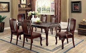 Johannesburg I Collection CM3873T4SC2AC 7-Piece Dining Room Set with Rectangular Table, 4 Side Chairs and 2 Arm Chairs in Brown Cherry Finish