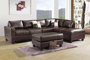 G305BSCO 2 PC Sectional Sofa Set with Sectional Sofa + Ottoman in Cappuccino Color