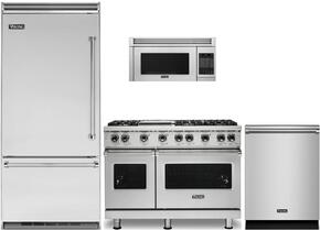 "4-Piece Stainless Steel Kitchen Package with VBI7360WRSS 36"" Bottom Freezer Refrigerator, VGR5486GSSLP 48"" Gas Range, VMOS201SS 24"" Microwave w. 30"" Trim Kit, and FDW302WS 24"" Fully Integrated Dishwasher"