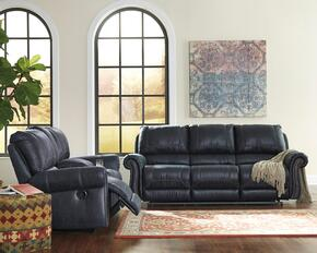 Milhaven 6330488SL 2 PC Living Room Set with Reclining Sofa + Reclining Loveseat in Navy Color
