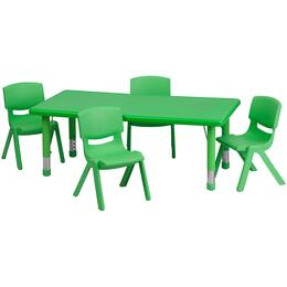 Flash Furniture YUYCX00132RECTTBLGREENRGG