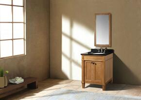 WLF6068-24KIT 24 Sink Vanity Without Faucet Matching Granite From Wlf5048-25 and Wlf5047-25 in Weathered Oak with Backsplash