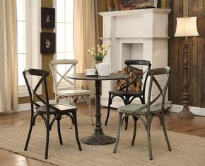 Oswego Collection 100063 5-Piece Dining Room Set with Dining Table and 4 Dining Chairs in White Finish