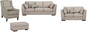 Georgia Collection MI-8540SLACO-ALLO 4-Piece Living Room Set with Sofa, Loveseat, Accent Chair and Ottoman in Alloy