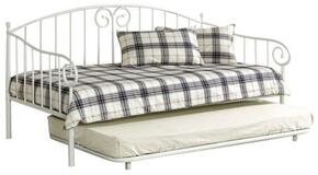 Hamden Collection CM1603WHT 2 PC Daybed Set with Twin Size Daybed + Trundle in White Finish