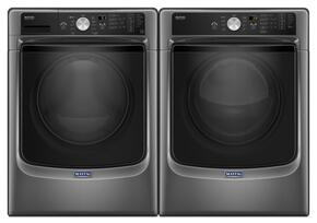 "Metallic Slate Front Load Laundry Pair with MHW5500FC 27"" Washer and MGD5500FC 27"" Gas Dryer"