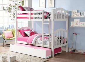 Heartland 02354BT 2 PC Bedroom Set with Twin Bunk Bed + Trundle in White Finish