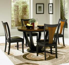 102096 Boyer Contemporary 5 Pcs Round Dining Set (Table and 4 Chairs) by Coaster Co.