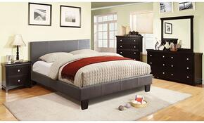 Winn Park Collection CM7008GYFBDMCN 5-Piece Bedroom Set with Full Bed, Dresser, Mirror, Chest, and Nightstand in Grey Color