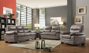 G676SET 3 PC Living Room Set with Sofa + Loveseat + Armchair in Grey Color