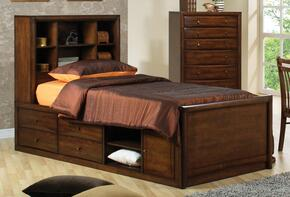 Scottsdale Collection 400280FSET 2 PC Bedroom Set with Full Size Bed + Chest in Warm Brown Finish