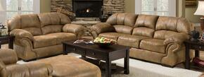 Pinto 6270-0302 2 Piece Set including Sofa and Loveseat with Microfiber Upholstery  in Tobacco