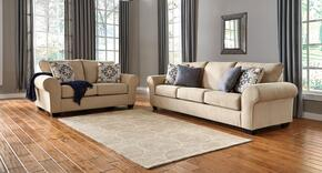 Denitasse Collection 84904SL 2-Piece Living Room Set with Sofa and Loveseat in Parchment