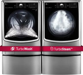 Graphite Steel TwinWash Front Load Laundry Pair with WM5000HVA 27