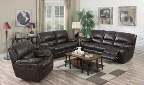 Kimberly 52135SLC 3 PC Living Room Set with Sofa + Loveseat + Chair in Brown Color