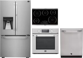 4-Piece Stainless Steel Kitchen Package with LSFXC2476S 36