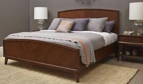 Modern Harmony 40316017B2N 3 PC Bedroom Set with King Size Panel Bed + 2 Nightstands in Walnut Finish