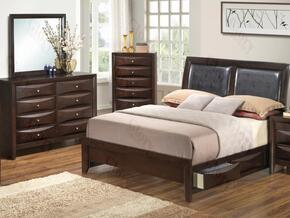 G1525DDTSB2DM 3 Piece Set including Twin Size Bed, Dresser and Mirror in Cappuccino