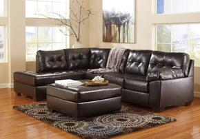 Alliston 20101-08-16-67 2-Piece Living Room Set with Left Chaise Sectional Sofa and Ottoman in Chocolate