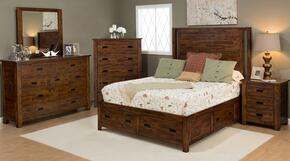 Coolidge Corner Collection 1503KPBDMN 4-Piece Bedroom Set with King Bed, Dresser, Mirror and Nightstand in Brown