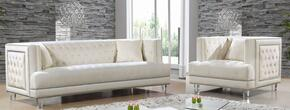 Lucas Collection 6092PCARMKIT3 2-Piece Living Room Sets with Stationary Sofa, and Living Room Chair in Cream