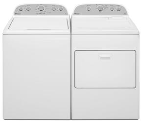 "White Top Load Laundry Pair with WTW4915EW 27"" High-Efficiency Washer and WED4915EW 29"" Electric Dryer"