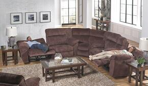 Nichols Collection 1671-8-9-2312-39 3-Piece Sectional with Reclining Sofa, Corner Wedge and Reclining Loveseat in Chestnut