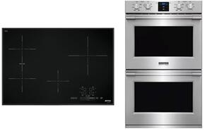 "2-Piece Kitchen Package With SIMU530B 30"" Electric Cooktop and DOU330X1 27"" Electric Double Wall Oven"