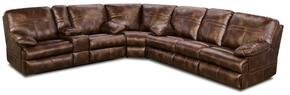 Miracle Saddle 50981-076353 3 Piece Set including Bonded Leather Wedge, Loveseat and Double Motion sofa with Stitched Detailing in Brown