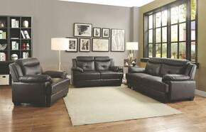 G480 Collection G488SET 3 PC Living Room Set with Sofa + Loveseat + Armchair in Dark Brown Color