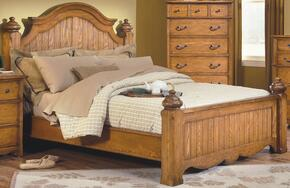 4431EBDMNC Hailey 5 Piece Bedroom Set with King Poster Bed, Dresser, Mirror, Nightstand and Chest, in Toffee