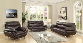 G433SET 3 PC Living Room Set with Sofa + Loveseat + Armchair in Cappuccino Color