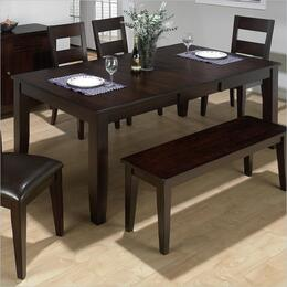 972-77SET7 Dark Rustic Prairie Dining Table Withbutterfly Leaf with 6 Ladderback Chairs with Upholstered Seat