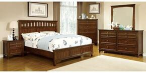Chelsea Collection CM7781QBDMCN 5-Piece Bedroom Set with Queen Bed, Dresser, Mirror, Chest and Nightstand in Cherry Finish