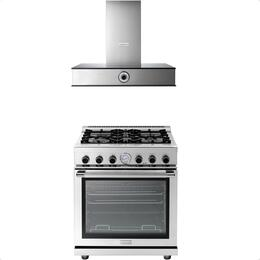 2-Piece Stainless Steel Kitchen Package with RN301GPSSL 30