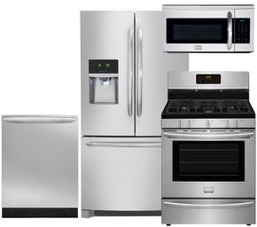 Gallery 4-Piece Smudge-Proof Stainless Steel Kitchen Package with FGHB2866PF 36