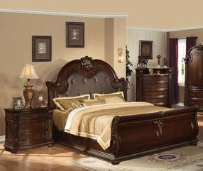 Anondale Collection 10307EKN Eastern King Size Sleigh Bed + Nightstand in Cherry Finish