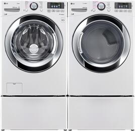 White Front Load Laundry Pair with WM3670HWA 27