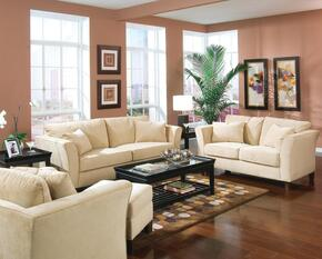 500231SET2 Park Place 2 Pcs Living Room Set (Sofa and Loveseat) in Cream