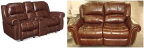 SS601 2-Piece Living Room Set with Manual Entertainment Sofa and Loveseat in Cognac