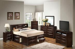 G1525GTSB3NTV2 3 Piece Set including Twin Size Bed, Nightstand and Media Chest  in Cappuccino