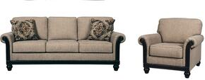 Alexandra Collection MI-1886SC-TAUP 2-Piece Living Room Set with Sofa and Chair in Taupe Color