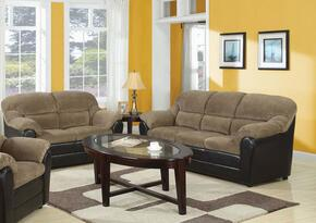 Connell Collection 15945SL 2 PC Living Room Set with Sofa + Loveseat in Brown and Espresso Color