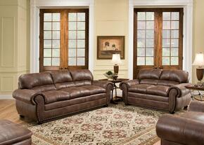 Padre 7510-030109 3 Piece Set including Sofa, Chair and Ottoman with  Nail Head Accents in Espresso
