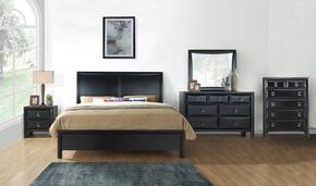 Global Furniture USA LUCASBLACKQBSET