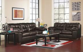Alliston DuraBlend 20101QSSL3TR2LTA 13-Piece Living Room Set with Queen Sofa Sleeper, Loveseat, 3PC Table Set, Rug, 2 Lamps and 5PC Table Accessories in Chocolate