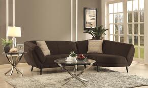 Norwood 500463SET 3 PC Living Room Set with Sectional Sofa + Coffee Table + End Table in Charcoal Color