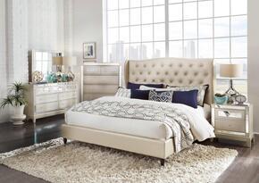 Global Furniture USA MIRROR8856CHAMPFBUPHOLSTEREDSET