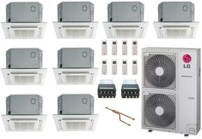 LMU600HVKIT60 8-Zone Mini Split Air Conditioner System with 61000 BTU Cooling Capacity, 8 Indoor Units, Outdoor Unit, 2 Distribution Boxes, 1 Y-Branch, and 8 Grille Kits