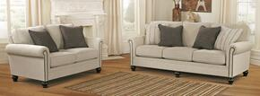 Milari Collection 13000SL 2-Piece Living Room Set with Sofa and Loveseat in Linen